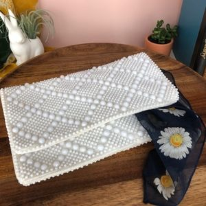 Vintage Beaded Fold Over Clutch